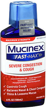Mucinex Fast-Max Severe Congestion & Cough Liquid Maximum Strength 6 OZ