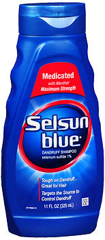 Selsun Blue Dandruff Shampoo Medicated 11 OZ