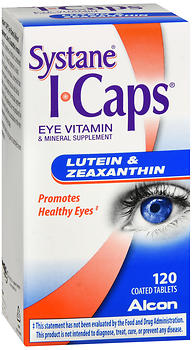 Systane ICaps Lutein & Zeaxanthin Coated Tablets 120 TB