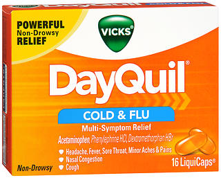 Vicks DayQuil Cold & Flu Multi-Symptom Relief LiquiCaps 16 CT