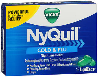 Vicks NyQuil Cold & Flu LiquiCaps 16 CT