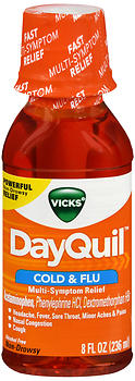 Vicks DayQuil Cold & Flu Liquid 8 OZ