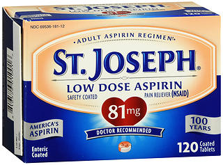 St. Joseph Low Dose Aspirin 81 mg Coated Tablets 120 TB