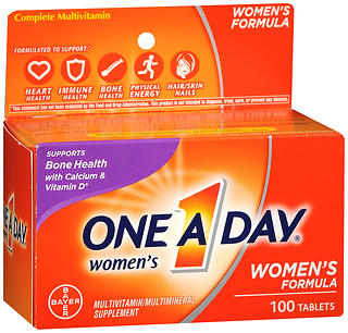 One A Day Women's Formula Multivitamin/Multimineral Supplement Tablets 100 TB