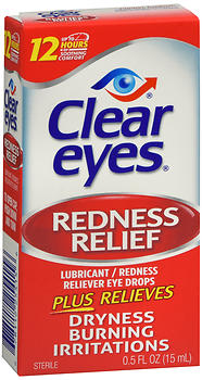 Clear Eyes Redness Relief Lubricant Eye Drops 0.5 oz