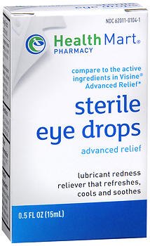 Health Mart Sterile Eye Drops Advanced Relief 15 ML