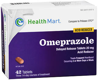 Health Mart Omeprazole Acid Reducer 20 mg Tablets 42 TB
