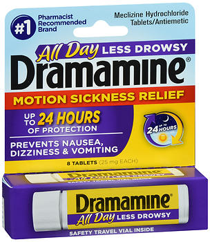Dramamine Motion Sickness Relief Tablets All Day Less Drowsy
