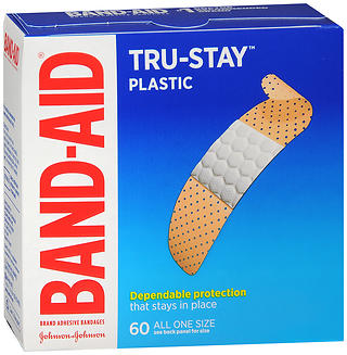 BAND-AID Tru-Stay Plastic Adhesive Bandages All One Size 60 EA