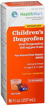 Health Mart Children's Ibuprofen Oral Suspension Berry Flavor 4 OZ