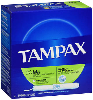 Tampax Tampons Super Absorbency Unscented 20 EA