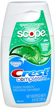 Crest Complete Multi-Benefit Tartar Control Whitening + Scope Toothpaste Liquid Gel Minty Fresh 4.6 oz