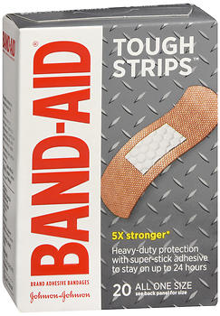 BAND-AID Tough Strips Adhesive Bandages 1 in x 3-1/4 in 20 EA