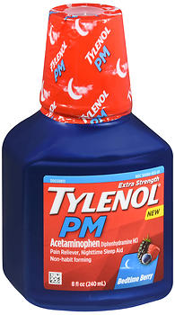 Tylenol PM Extra Strength Liquid Bedtime Berry 8 OZ
