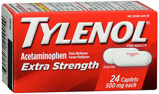 TYLENOL Extra Strength Caplets For Adults 24 CP