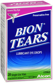Bion Tears Lubricant Eye Drops Single-Use Vials 28 Pack