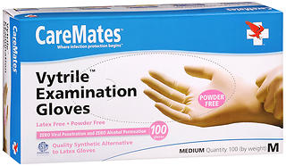 CareMates Vytrile Examination Gloves Powder Free Medium