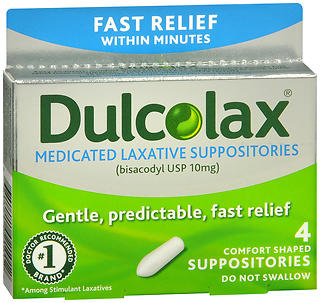 Dulcolax Medicated Laxative Suppositories