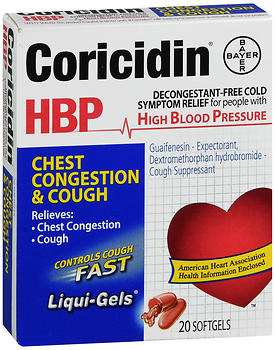 Coricidin HBP Chest Congestion & Cough Liqui-Gels