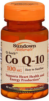 Sundown Naturals Co Q-10 100 mg Softgels 40 CP