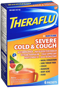 Theraflu Daytime Severe Cold & Cough Packets Berry