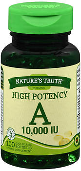 Nature's Truth High Potency A 10,000 IU Quick Release Softgels 100 CP