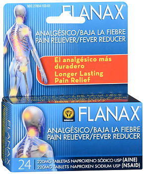 Flanax Pain Reliever/Fever Reducer Tablets 24 TB