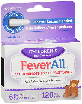 FeverAll Children's Acetaminophen Suppositories