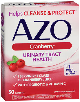 Azo Cranberry Urinary Tract Health Supplement Caplets 50 CP