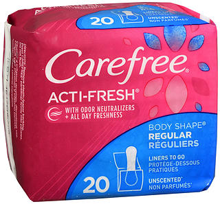 CAREFREE Acti-Fresh Body Shape Pantiliners Regular Unscented 20 EA