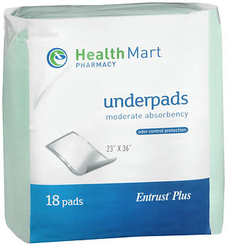 Health Mart Moderate Absorbency Underpads 18 EA
