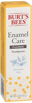 Burt's Bees Enamel Care Fluoride Toothpaste Mountain Mint 4.7 oz