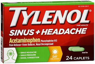TYLENOL Sinus + Headache Caplets Day 24 CP