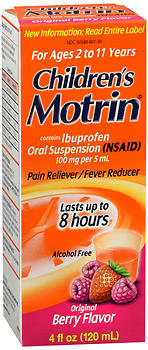 Motrin Children's Ibuprofen Oral Suspension Original Berry Flavor 4 OZ