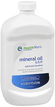 Health Mart Mineral Oil USP Lubricant Laxative 16 OZ