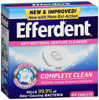 Efferdent Anti-Bacterial Denture Cleanser Tablets 44 tb