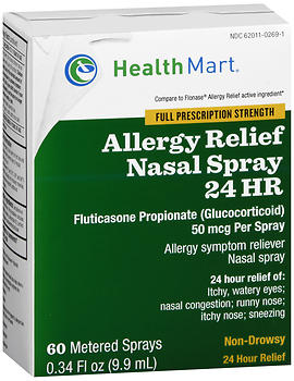 Health Mart Allergy Relief Nasal Spray 24 HR 60 Metered Sprays