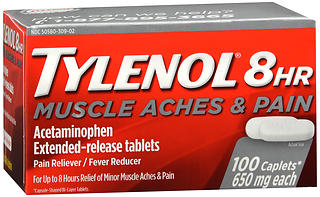 TYLENOL 8HR Muscle Aches & Pain Extended-Release Tablets 100 CP