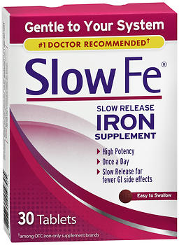Slow Fe Slow Release Iron Supplement Tablets 30 TB