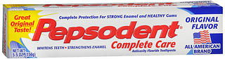 Pepsodent Complete Care Anticavity Fluoride Toothpaste Original Flavor 5.5 OZ