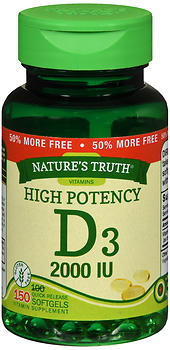 Nature's Truth High Potency Vitamin D3 2000 IU Quick Release Softgels 150 CP