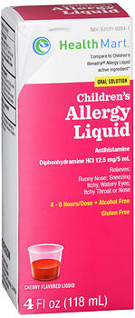 Health Mart Children's Allergy Liquid Cherry 4 oz