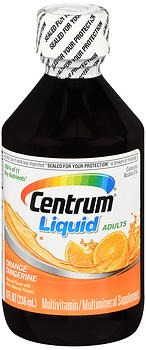 Centrum Adults Multivitamin/Multimineral Liquid Orange Tangerine 8 OZ