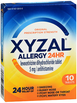Xyzal Allergy 24 HR Tablets 10 TB