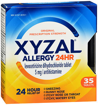 Xyzal Allergy 24 HR Tablets 35 TB