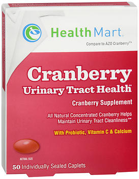 Health Mart Cranberry Urinary Tract Health Supplement Caplets 50 TB