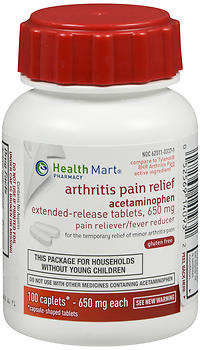Health Mart Arthritis Pain Relief Extended Release 650 mg Caplets