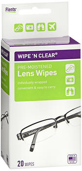 Flents Wipe 'N Clear Pre-Moistened Lens Wipes