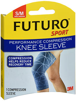 FUTURO Performance Compression Knee Sleeve Mild Support Small/Medium 80101