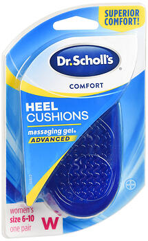 Dr. Scholl's Comfort Heel Cushions Advanced Massaging Gel Women's 1 PR